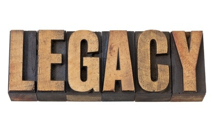 legacy word in vintage wood type