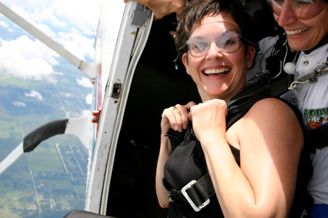 My wife Linda ready to skydive!